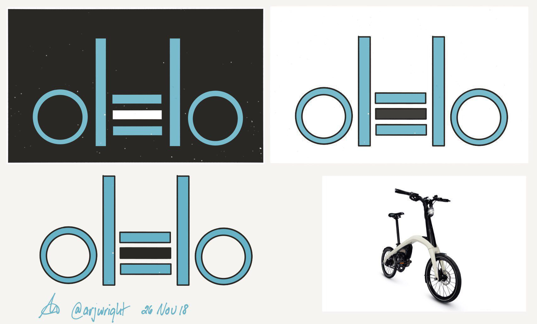 Concept: Olelo eBike Branding made with Paper for iOS