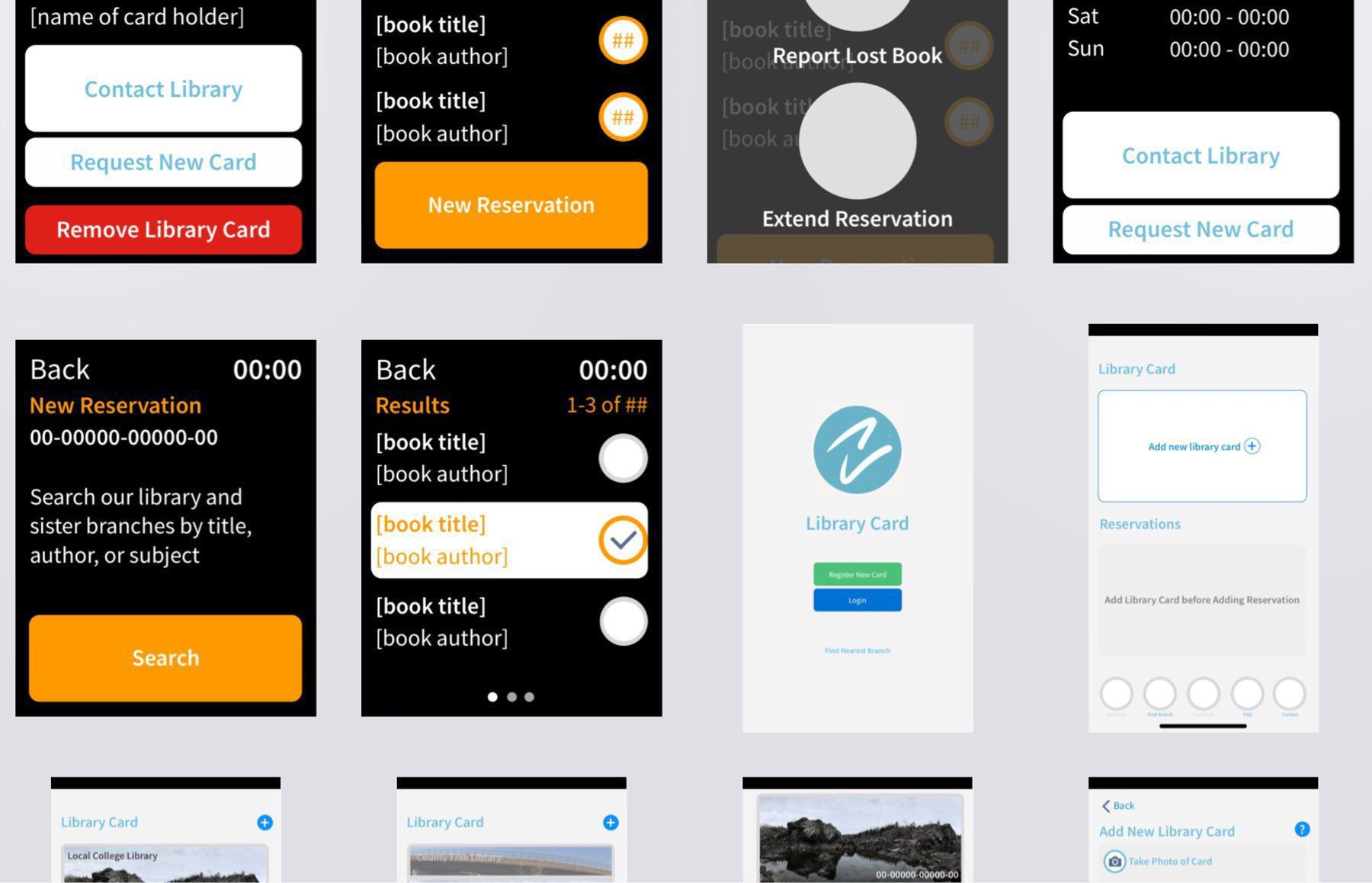 Concept: Library Card Watch App (iteration) via Adobe Comp CC for iPad