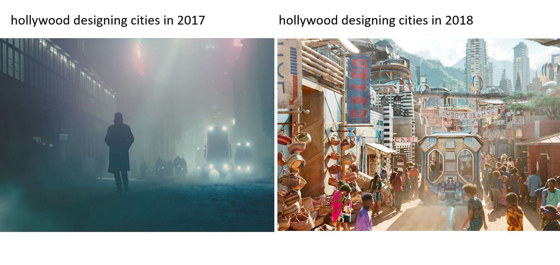 IMAGE FROM TWITTER: how Hollywood designed cities in 2017 and 2018